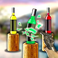 Pistol and Bottles